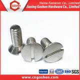 Parafuso principal entalhado DIN936/ISO2009 Ss304 de Counetrsunk