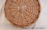 Cover.를 가진 피복 Storage Wicker Basket
