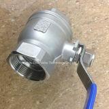 Válvula de bola Tipo CF8 / CF8M Luz 2PC con reduce Bore