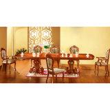 Tabela de jantar com a cremalheira do vinho para a mobília da sala de jantar