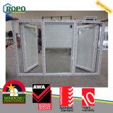 UPVC personalizzato Vinyl Window con Mosquito Net