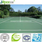 Court de tennis à base d'eau développé neuf pour l'école