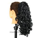 Nouvelle prolongation de cheveux bouclés d'Afro de queue de cheval d'agrafe de mâchoire de mode