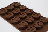 愛らしい中心の形のFDAのシリコーンカスタムチョコレート型の皿