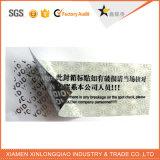 Etiqueta engomada del holograma del vacío del pegamento de la seguridad de Custom Label Printing Company