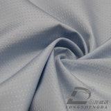 agua de 75D 240t y de la ropa de deportes tela punteada tejida chaqueta al aire libre Viento-Resistente 100% de la pongis del poliester del telar jacquar abajo (E020)