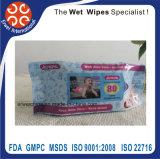 Le bébé antiseptique de soins de la peau essuie les chiffons privés de logo de chiffon humide