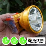 interpréteur de commandes interactif 1*5V500mAh USB Mobile d'alliage d'aluminium de 2W 3W 5W DEL Headlamp chargeant 2PCS Rechargeable Lithium Battery, Camping Outdoor, Coal Miner Lamp Mining Headlamp