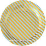 習慣印刷された使い捨て可能な紙皿