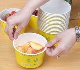 Bol de papier remplaçable bon marché personnalisé de potage/boulette avec le couvercle