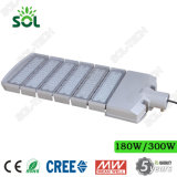 50W 100W 150W 200W 250W 300W Luz LED rua com LED Cree e MeanWell driver