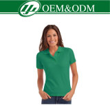 Camisa de polo del algodón de las mujeres de calidad superior