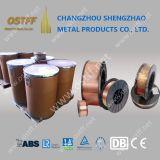 tambor 250kg de 0.6-1.6m m pila de discos el alambre de soldadura sólido de MIG (AWS ER70S-6)