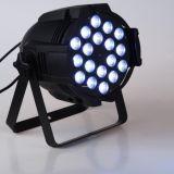 DMX512 실내 18* 10W RGBW 쿼드 LED DJ는 클럽 동위를