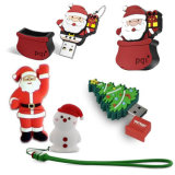 Disco popular do USB do PVC do costume do presente do Natal