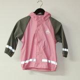 Revestimento reflexivo da chuva do plutônio da cor-de-rosa contínua para crianças/bebê