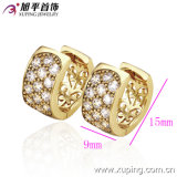 Neues Fashion 14k Gold-Plated Charming Crystal Hoop Earring