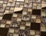 Tuile de mosaïque de verre cristal de matériau de construction et acier inoxydable pour le carrelage (FYMG035)
