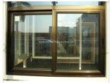 Anunció el rodillo ocultado vidrio doble de clase superior Windows de aluminio de desplazamiento y puertas