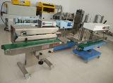 Máquina de selagem contínua de saco de plástico Continue seladora com enchimento de nitrogênio e oxigênio para arroz com biscoito e produtos diários