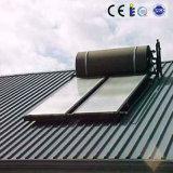 青いチタニウムのフラットパネルの太陽給湯装置