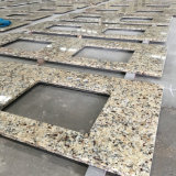 Dessus en gros de vanité de salle de bains de granit d'or du Brésil