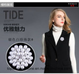 ウェディングドレスのアクセサリ(TB-018)のための真珠のブローチのラインストーンのブローチ