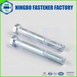 DIN931六角ボルト(HALF THREADED)(ワッシャー面で)グレード/クラス2〜10.9ブルー、ホワイト亜鉛めっきのNbまたはYHCをマーキングヘッド