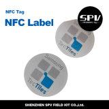 Animal doméstico adhesivo Ntag216 ISO14443A de la etiqueta 13.56MHz de Nfc