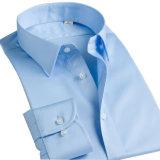Camisa larga de la seda de la funda de la manera de los hombres del diseño de la manera