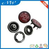 Botón del broche de presión del diente de la perla del metal del diseño de la manera de las ventas al por mayor