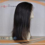 Ligne normale perruque de cheveu de femmes de lacet de noir de gicleur de cheveux humains pleine