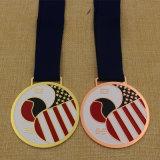 2015の金属のカスタム柔らかいエナメルのTaekwondoメダル