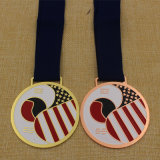 Medalha macia feita sob encomenda de Taekwondo do esmalte de 2015 metais