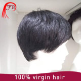 Silk naturel Human Hair Wig pour Man