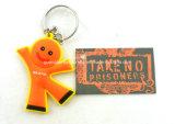Kundenspezifische personifizierte nett Rubber/PVC Schlüsselkette (CP-2324)