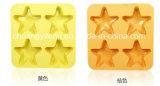 Vier vijf-Punten van Cellen de Ster Gevormde Vorm/het Dienblad van het Ijsblokje van het Silicone