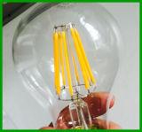2016년 TUV 세륨 RoHS 220-240V A60 E27 806lm Dimmable 8W LED 필라멘트 전구