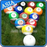 Sports interactifs de pied de billards de bille de jeux du football gonflable de billard