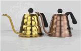 Giet over de Pot van de Koffie en van de Koffie van de Ketel van de Druppel van de Thermometer van de Thee