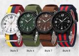 Lona dos militares luxuosos do tipo superior dos relógios de Mens Yxl-862 & relógio de pulso de quartzo do Wristband da OTAN