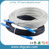 Alta calidad incrustado FTTH fibra óptica Patch Cord Cable con conectores SC / UPC