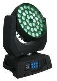 indicatore luminoso capo mobile del fascio LED dello zoom della lavata di 36X18W RGBWA+UV 6in1