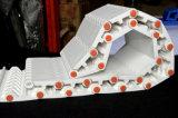 Correia transportadora modular plástica Falt da placa grossa de 800