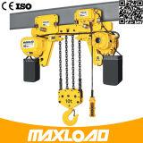 10 Tonnen-elektrische Kettenhebevorrichtung mit Niedrig-Durchfahrtshöhe Typen (HHBB10-04SL)