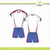 De bonne qualité réglé de formation d'uniforme bleu neuf du football