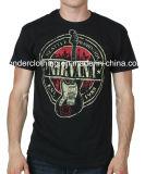 T-shirt court en gros fait sur commande de douille du coton des hommes de mode d'impression