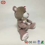 Gato com luxuoso bonito Soft Stuffed Toy de Embroidery Foot Sitting