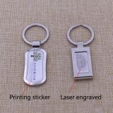 Laser Printing Logo Metal Keychain Custom Sale per Promotion Activity