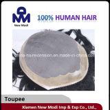 Toupee do cabelo do Virgin do cabelo humano